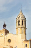 Ancient fortress in Sitges Stock Image
