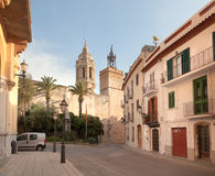 Ancient fortress in Sitges Royalty Free Stock Photo