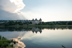 Ancient fortress in Soroca, Moldova,. On the bank of the Dniester River Stock Photography