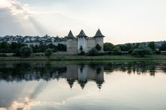 Ancient fortress in Soroca, Moldova,. On the bank of the Dniester River Stock Images