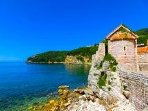 Ancient fortress standing near Adriatic sea. Budva. Montenegro. Royalty Free Stock Photo