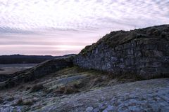 An ancient fortress stone wall. royalty free stock photos