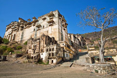 Ancient fortress and structure of Bundi Palace Stock Photos