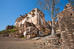 Ancient fortress and 17th century palace in India Stock Image
