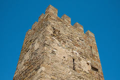 The ancient fortress tower Stock Images
