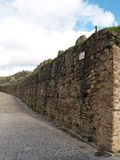 Ancient Fortress Wall. Part of an old fortress wall in Buitrago, Spain Royalty Free Stock Photography