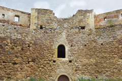 Ancient fortress wall. Medieval castle wall in ancient fortress Royalty Free Stock Photography