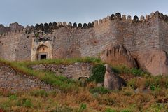 Ancient Fortress Walls Royalty Free Stock Images