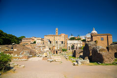 Ancient Forum in Rome Italy Royalty Free Stock Image