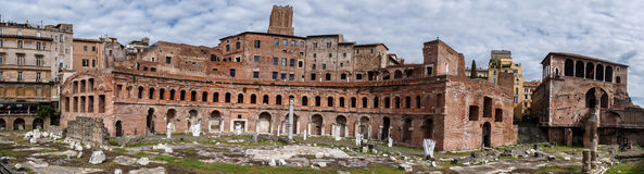 Ancient Forum Structure Stock Image