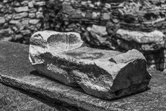Ancient foundation stone Royalty Free Stock Images