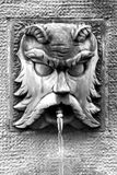 Ancient fountain (Castellane, France) Royalty Free Stock Image