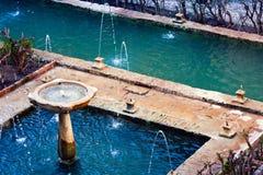 Ancient fountain - Generalife Stock Photos