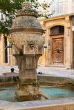 Ancient fountain in Provence Stock Photography