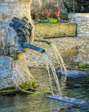 Ancient fountain in Provence Royalty Free Stock Photography