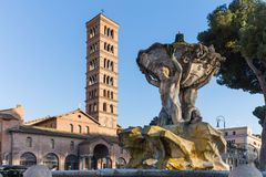 The ancient foutain in Rome, Italy Royalty Free Stock Photo