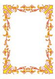 An ancient frame. With classical gold elements Stock Images