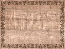 Ancient frame paper canvas. Cloth Stock Images