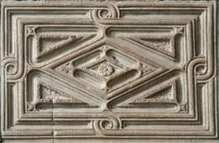Ancient frame stone. Of Venice Italy royalty free stock photography