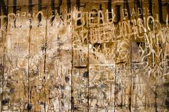 Ancient French Graffito royalty free stock photo