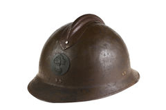 Ancient French helmet Royalty Free Stock Photography