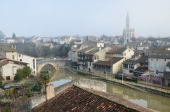 The ancient French town Nerac Royalty Free Stock Photos