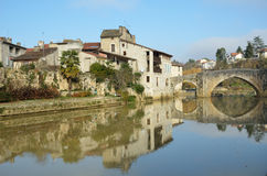 The ancient French town Nerac Stock Photos