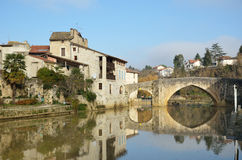The ancient French town Nerac Stock Photo