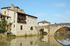 The ancient French town Nerac Royalty Free Stock Images