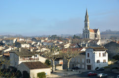 The ancient French town Nerac Stock Image