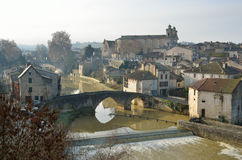 The ancient French town Nerac Royalty Free Stock Image