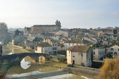 The ancient French town Nerac Royalty Free Stock Photography