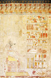 Ancient fresco with Anubis. Anubis fresco painting in the Temple of Queen Hatshepsut stock photography
