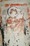Ancient fresco in Cappadocia Royalty Free Stock Image