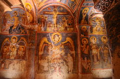 Ancient fresco in goreme, Cappadocia Stock Images