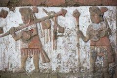 Ancient fresco in Huaca de la Luna, Trujillo. Details of an ancient fresco in Huaca de la Luna in Trujillo, Peru Stock Images