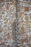Ancient fresco in Huaca de la Luna, Trujillo. Details of an ancient fresco in Huaca de la Luna in Trujillo, Peru Royalty Free Stock Images