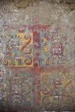 Ancient fresco in Huaca de la Luna, Trujillo. Details of an ancient fresco in Huaca de la Luna in Trujillo, Peru Royalty Free Stock Image