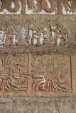 Ancient fresco in Huaca de la Luna, Trujillo. Details of an ancient fresco in Huaca de la Luna in Trujillo, Peru Stock Photo