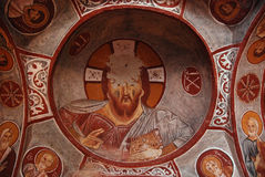 Ancient fresco of Jesus Royalty Free Stock Photos