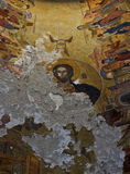 Ancient Fresco of Jesus Christ Royalty Free Stock Photos