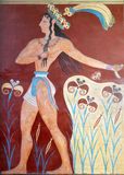 Ancient fresco from Knossos, Crete. Ancient fresco from Knossos palace at Crete island in Greece