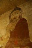 Ancient fresco painting of Buddha Stock Photography