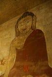 Ancient fresco painting of Buddha Stock Photo