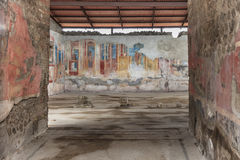 Ancient fresco at Pompeii Royalty Free Stock Image
