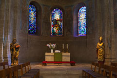 Ancient fresco and statues inside the  Brunswick cathedral in Br Royalty Free Stock Image