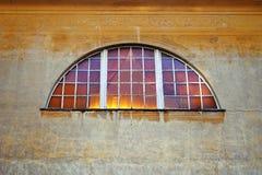 Ancient Fresco wall with Window Stock Photos