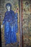 Ancient frescoe in Saint Sophia Cathedral, Kiev, Ukraine. KIEV, UKRAINE, JANUARY 02 2015 : Russian ancient frescoe in Saint Sophia Cathedral, by anymous artist Stock Photo