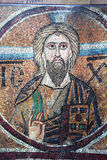 Ancient frescoe in Saint Sophia Cathedral, Kiev, Ukraine. KIEV, UKRAINE, JANUARY 02 2015 : Russian ancient frescoe in Saint Sophia Cathedral, by anymous artist Stock Photography