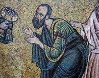 Ancient frescoe in Saint Sophia Cathedral, Kiev, Ukraine. KIEV, UKRAINE, JANUARY 02 2015 : Russian ancient frescoe in Saint Sophia Cathedral, by anymous artist Royalty Free Stock Photo